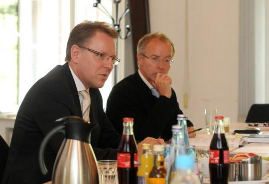 Stephan Gemkow,  Vorstandsvorsitzender der Franz Haniel & Cie. GmbH zu besuch im haniel master Course.