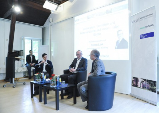 Der Duisburger OB Sören Link zu Gast im Haniel Master Course