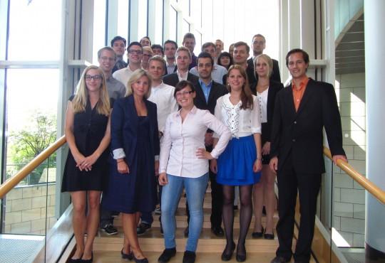Teilnehmer der Summer-School 2013 im Düsseldorfer Landtag