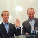 Das Moderatorenduo, Masterstudent Morten Pieper (links) und Prof. Dr. Michael Kaeding