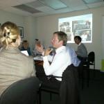 """Prof. Dr. Andreas Blätte, NRW School of Governance zur Rolle des """"Immigrant Vote"""" beim Workshop im AICGS"""