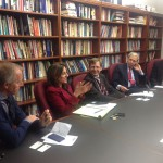 Termin bei der Graduate School for Politicial Management - v.l.: Prof. Dr. Karl-Rudolf Korte, Dr. Lara Brown, Prof. Dr. Andreas Blätte, Dr. Chris Arterton, The Honorable Mark Kennedy