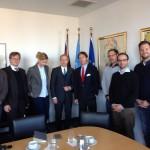 Termin mit dem deutschen Botschafter bei den Vereinten Nationen in New York, Peter Wittig (4. v. rechts)