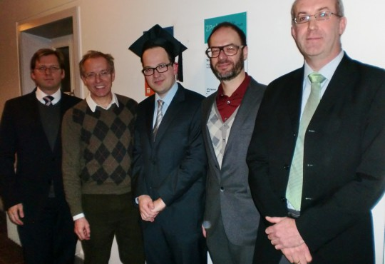 v.l.n.r. Andreas Blätte, Karl-Rudolf Korte, Jan Treibel, Christoph Bieber, Stefan Marschall