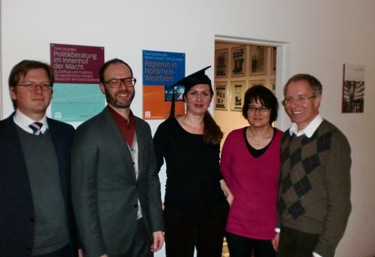 (v.l.n.r.) Andreas Blätte, Christoph Bieber, Nicole Renvert, Susanne Pickel, Karl-Rudolf Korte