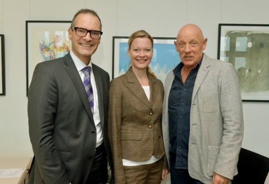 (v.l.n.r.) Bernhard Syben, Kristina Weissenbach, Joe Bausch.