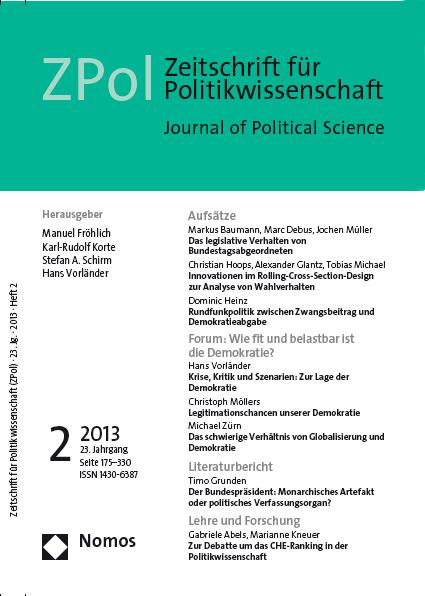 Die Ausgabe 2/2013 der Zeitschrift für Politik-wissenschaft (ZPOL)  ist erschienen.