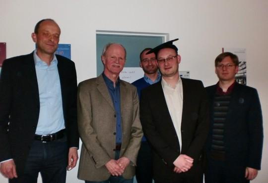 (v.l.n.r.) Nicolai Dose, Heinz-Jürgen Axt, Michael Kaeding (hinten), Simon Wiegand, Andreas Blätte.