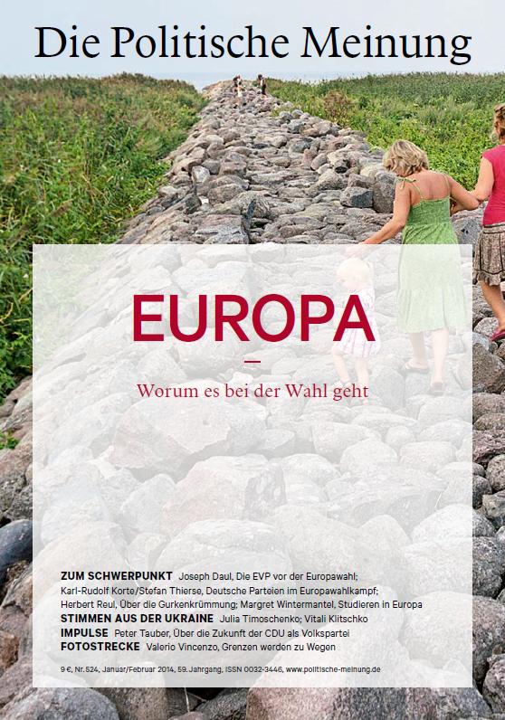 """Die aktuelle Ausgabe (524 2014) der Politischen Meinung behandelt das Thema: """"Europa - worum es bei der Wahl geht"""""""