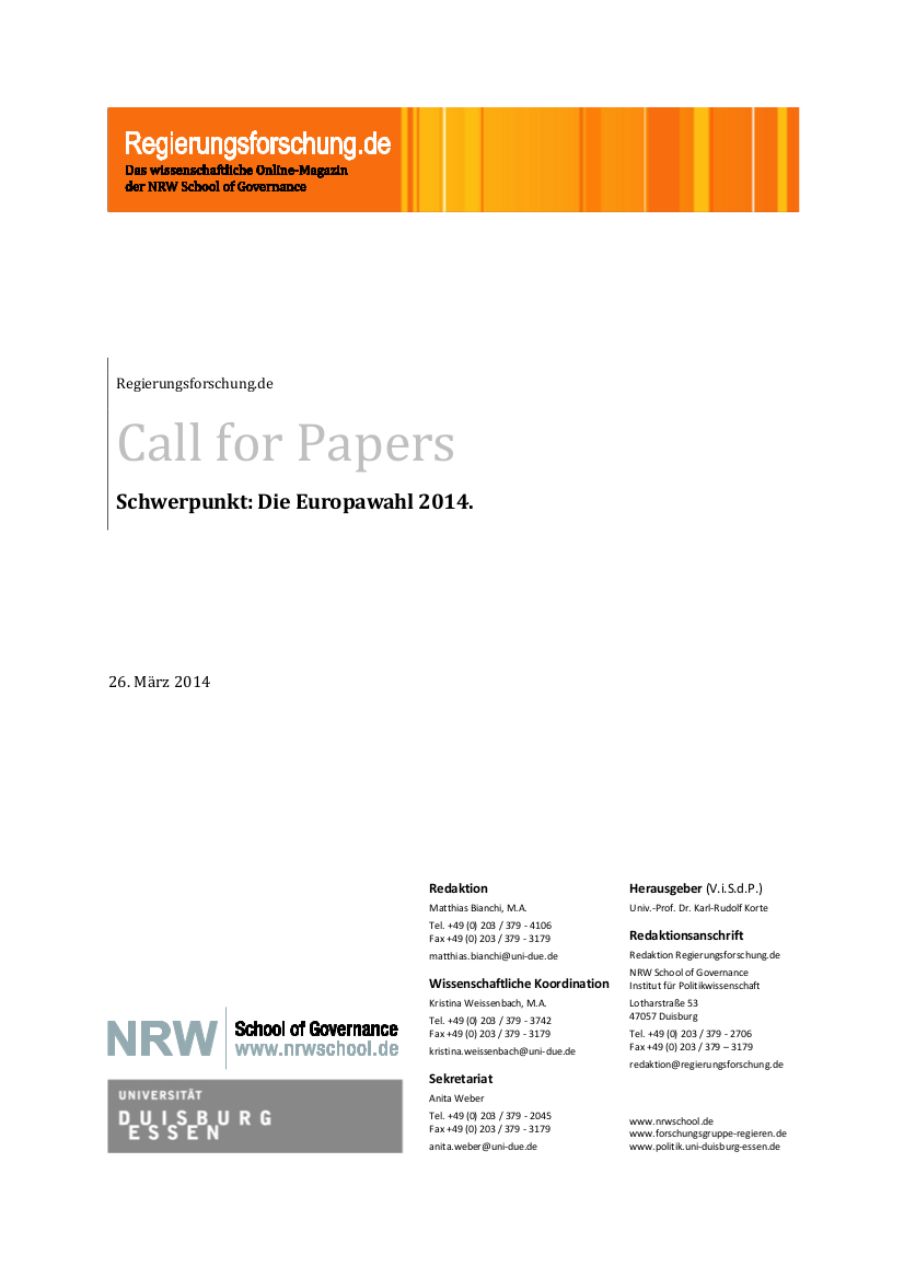 CFP zur Europawahl 2014