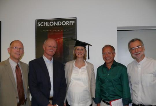 (v.l.n.r.) Tobias Debiel, Heinz-Jürgen Axt, Ines Lietzke, Karl-Rudolf Korte, Jochen Hippler