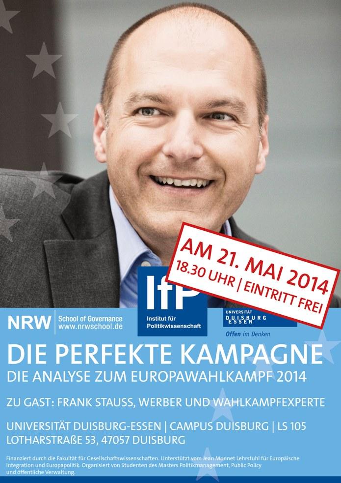 Frank Stauss ist am 21. Mai Gast an der NRW School of Governance