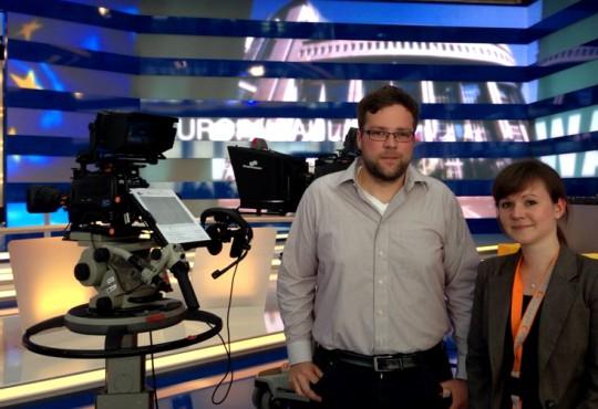 Diesmal hinter der Kamera: Götz Richter (l.) und Sonja Fasbender