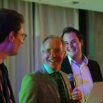 Die glücklichen Preisträger aus dem Jahrgang 2011 mit Karl-Rudolf Korte (m.)