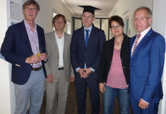 Lothar Probst, Andreas Blätte, Niko Switek, Susanne Pickel und Karl-Rudolf Korte (v.l.n.r.)