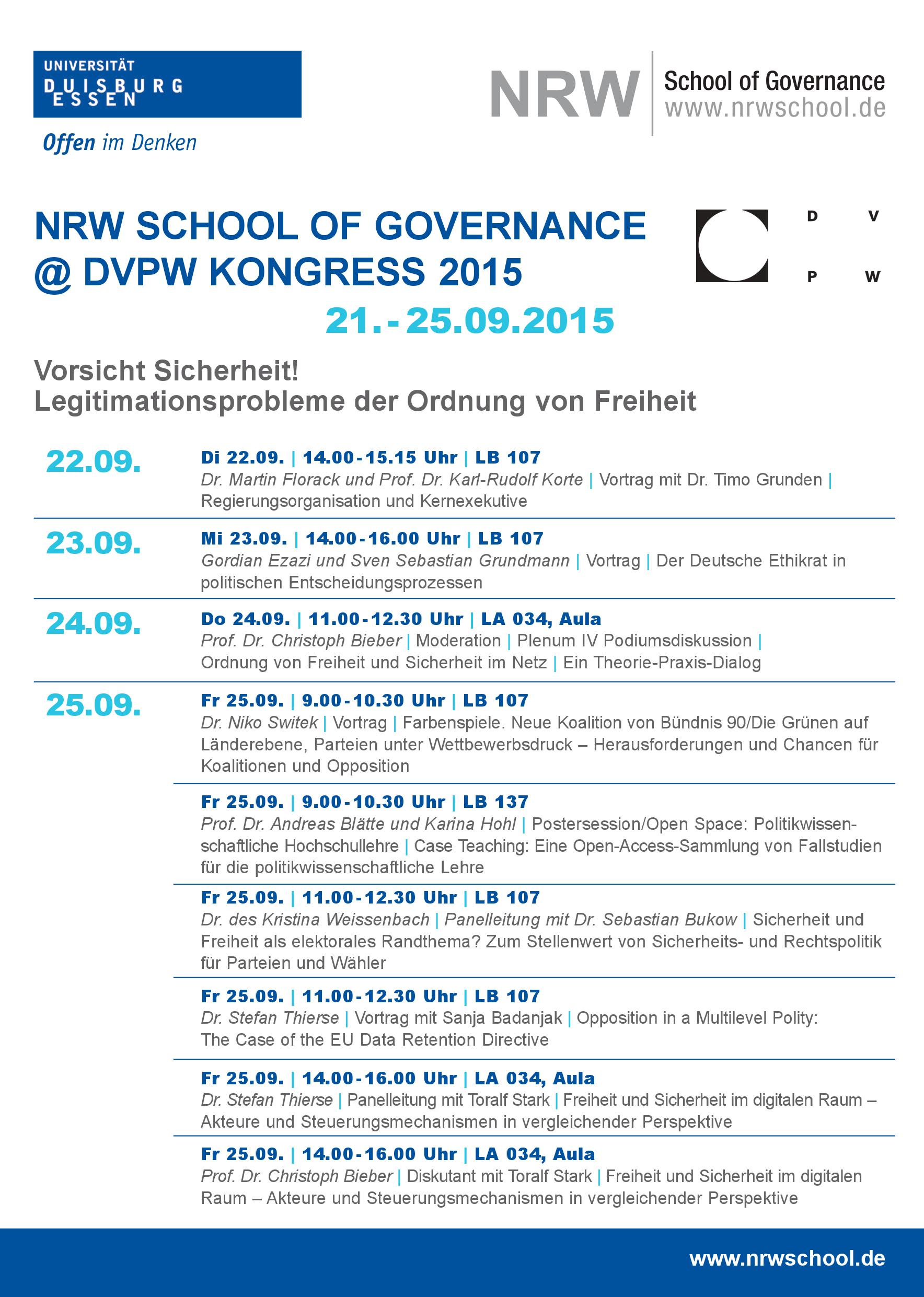 NRW School @ DVPW Kongress 2015 (1)