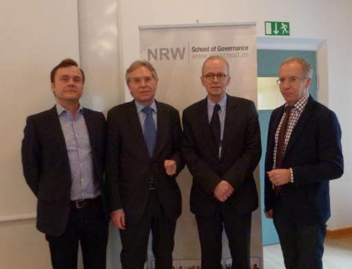 """""""Zeitgeschichte trifft auf Politikwissenschaft"""" lautete das Motto beim Thementag der NRW School of Governance am 26. Januar 2016."""