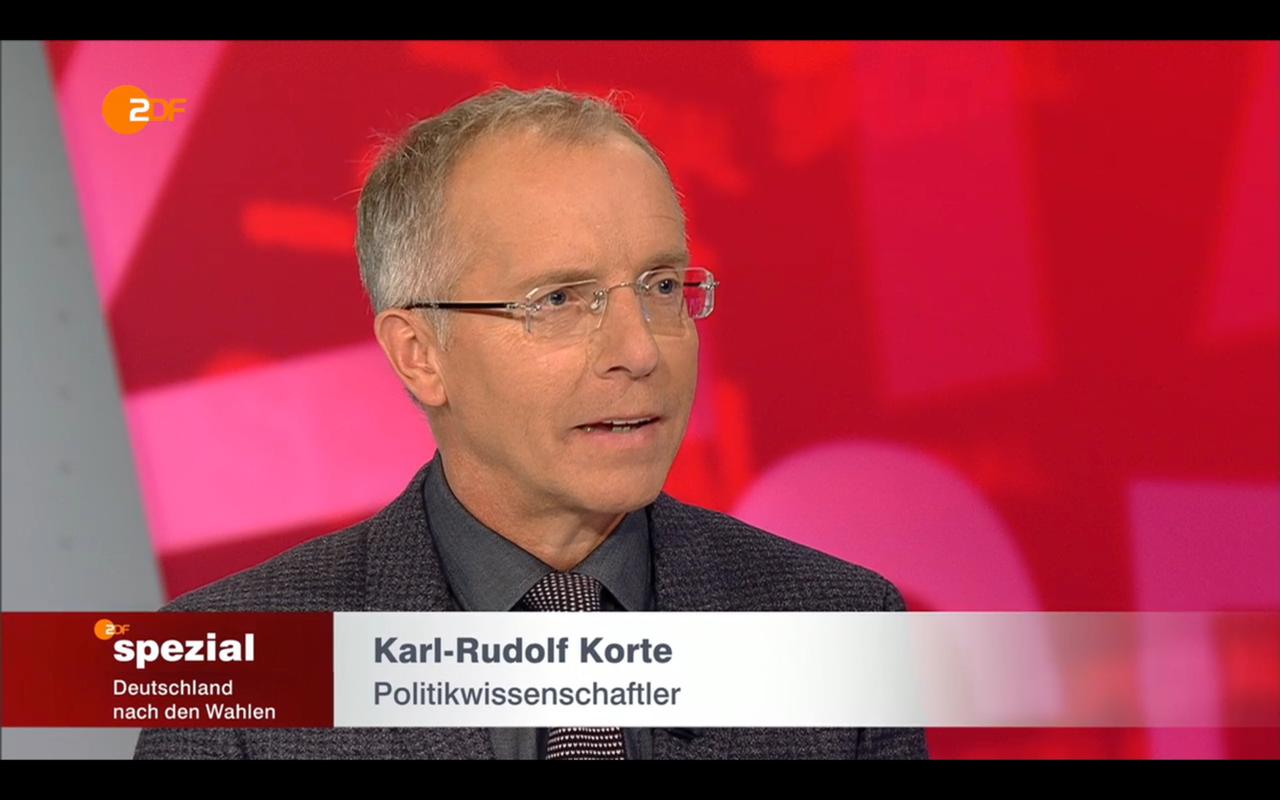 Karl-Rudolf Korte zu Gast im ZDF-Spezial