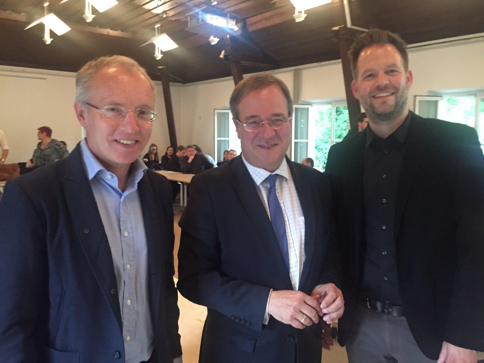 Prof. Dr. Korte, Armin Laschet und Dr. Martin Florack