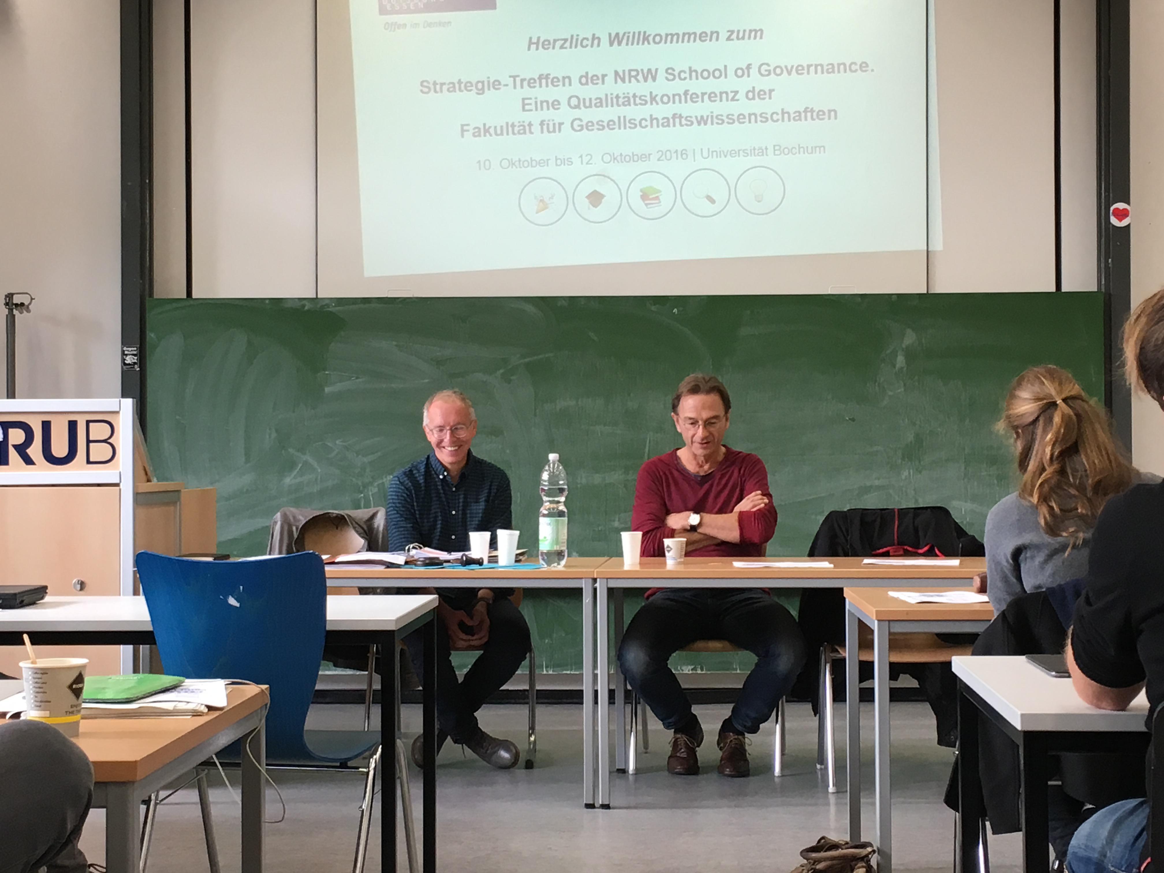 Im Gespräch: Prof. Dr. Karl-Rudolf Korte und Fritz Eckenga