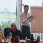 Sebastian Wuwer erläuterte den Studierenden, was eine gute Rede ausmacht.
