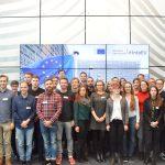 Letzte Station: das Charlemagne-Gebäude der Europäischen Kommission mit Vorträgen zu den Themen Radikalisierung und Terrorismus sowie Arbeit und Soziales.