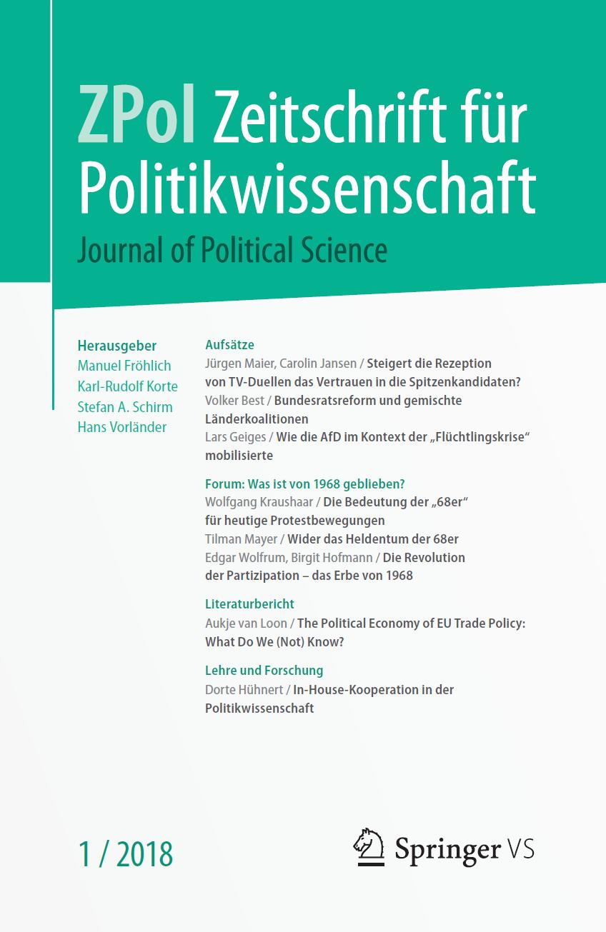 Zeitschrift für Politikwissenschaft Ausgabe 1/2018