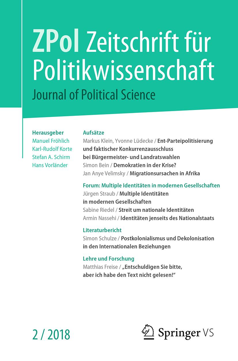 Zeitschrift für Politikwissenschaft Ausgabe 2/2018