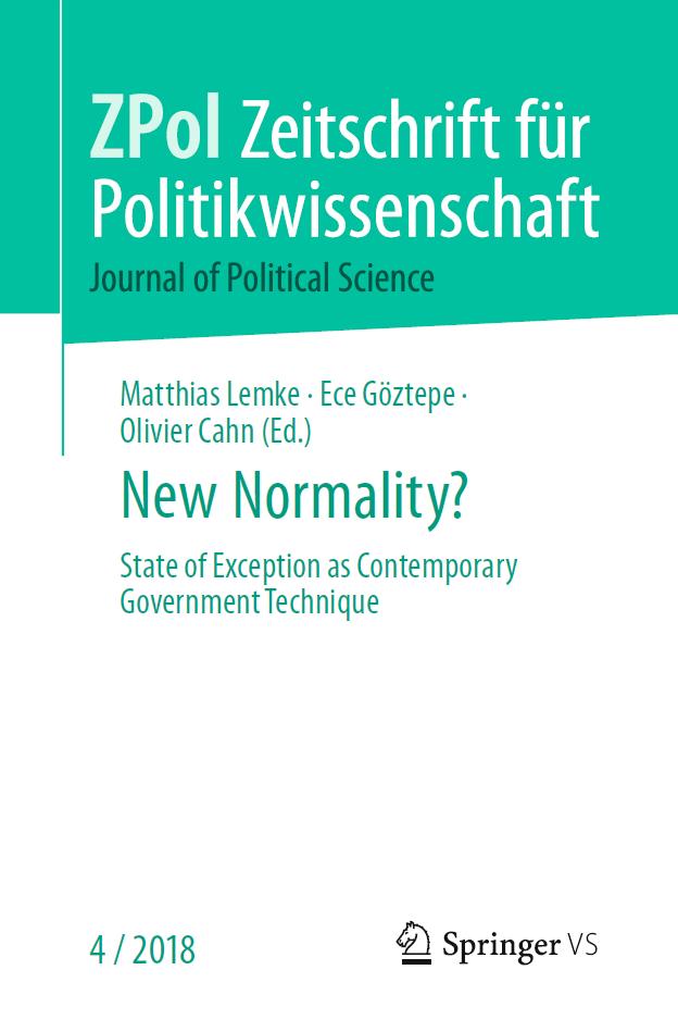 Special Issue der Zeitschrift für Politikwissenschaft Ausgabe 4/2018